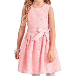 NWT Children's Place Pink Lace Fit & Flare Dress